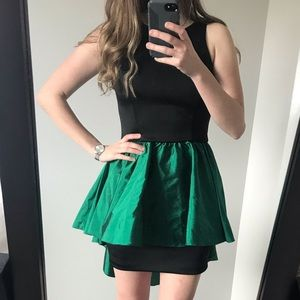 New Alexia Admor Sheath with High-Low Green Skirt